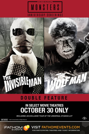 movie poster for Wolfman (1941) & The Invisible Man (1933) Double Feature