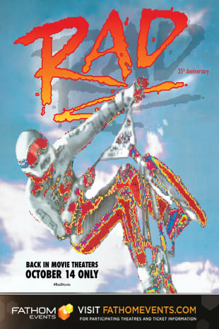 movie poster for Rad 35th Anniversary