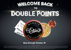 All AMC Stubs Members Earn Double Points