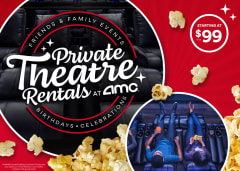 Host a Private Movie Showing at AMC starting at $99+tax