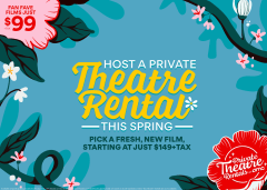 Host a Private Theatre Rental This Spring