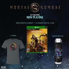 Mortal Kombat T-Shirt, Water Bottle, and Xbox Mortal Kombat 11 Digital Code