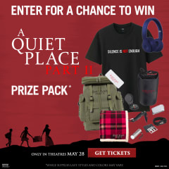 Enter for a chance to win A Quiet Place Part II Prize Pack