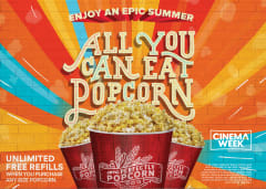 Unlimited Free Refills When You Purchase Any Size Popcorn