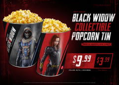 Get Your Black Widow Collectible Popcorn Tin While Supplies Last