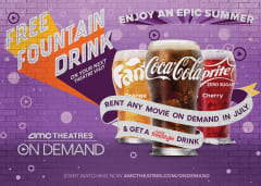Rent Any Movie On Demand in July and Get a Coke Freestyle Drink
