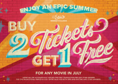 Buy 2 Tickets Get 1 Free