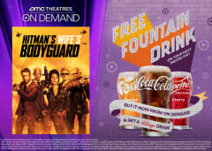 Buy Hitman's Wife's Bodyguard On Demand for a Free Fountain Drink on Your Next Theatre Visit