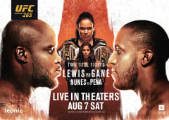Lewis vs Gane Live in Theaters Saturday August 7