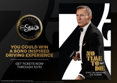 You Could Win A Bond Inspired Driving Experience - Get Tickets Now Through 10/10