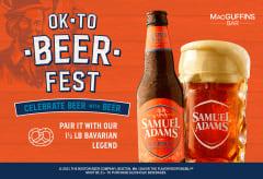 Sam Adams Octoberfest - Pair it with our 1.5lb Bavarian Legend