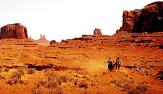 Scene from The Searchers