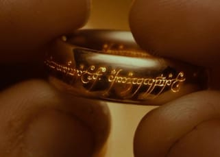 The ring from The Lord of the Rings