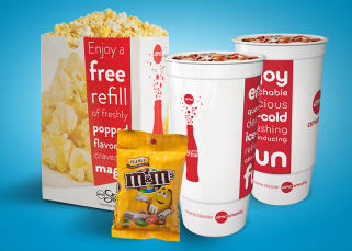 Classic movie theatre concessions at AMC