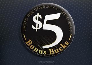 $5 Bonus Bucks