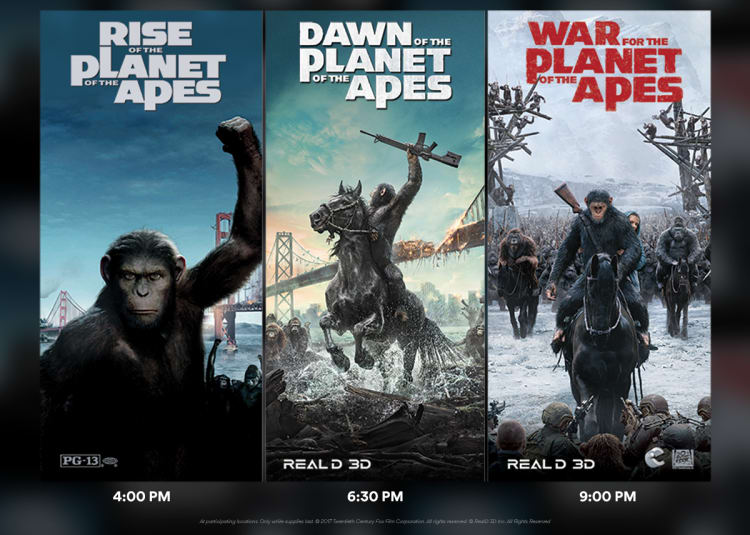 Promotional image for Apes Triple Feature