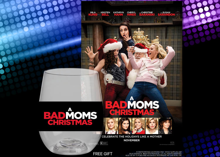 Promotional image for GIRLS NIGHT OUT at AMC presents: A BAD MOMS CHRISTMAS