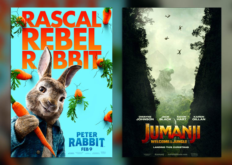 Promotional image for Double Feature: Peter Rabbit / Jumanji
