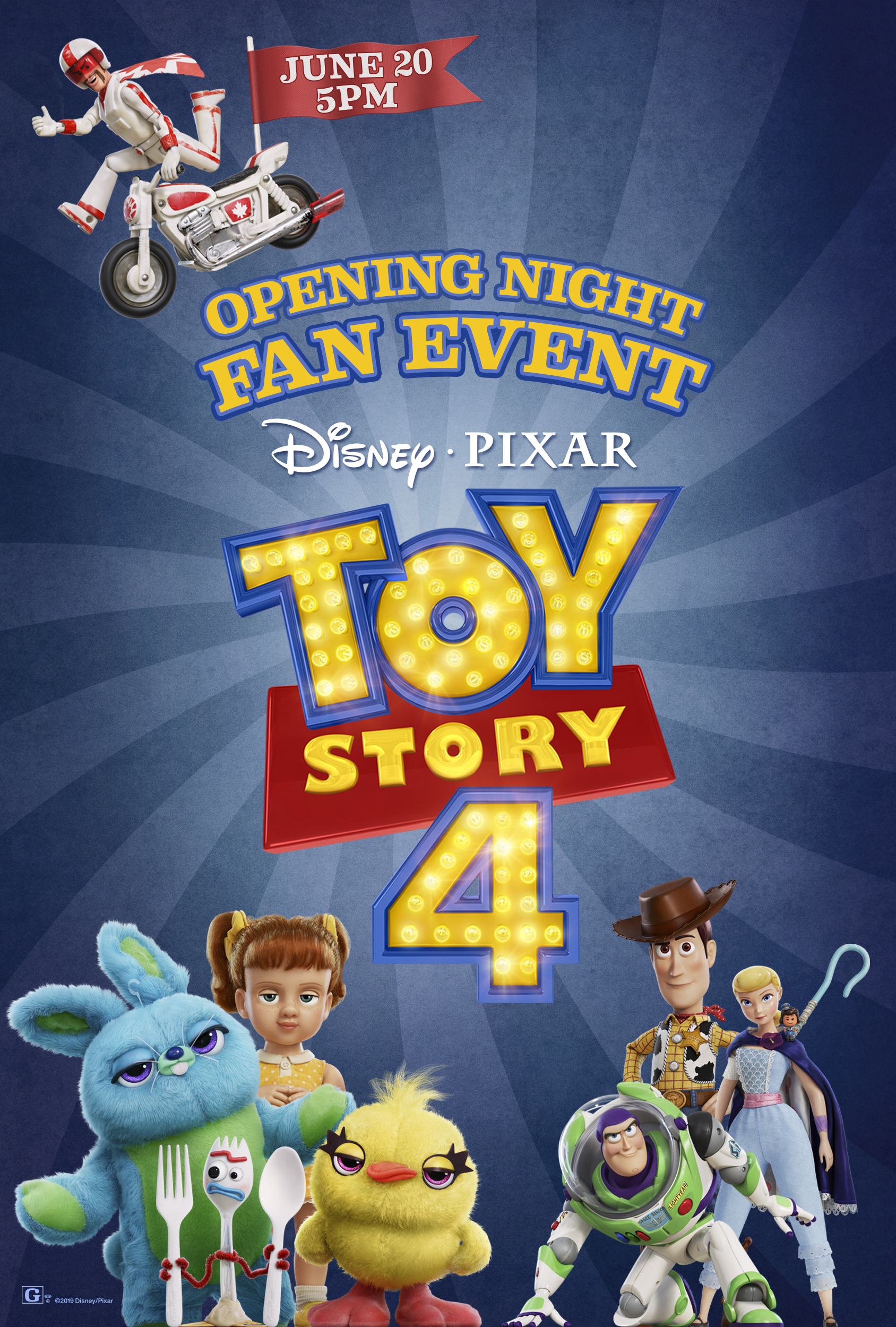 Opening Night Fan Event Toy Story 4 at an AMC Theatre